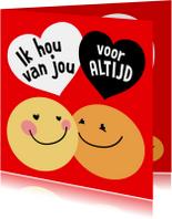 Valentijnskaart Smiley