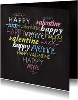 Valentijnskaart tekst hart krijtbord