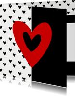 Valentijnskaarten - Valentijnskaart valentijns hart