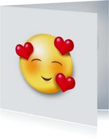 Valentijnskaart Verliefde smiley