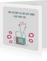Valentijnskaarten - Valentijnskaart voor de muziekliefhebber