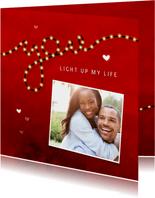 Valentijnskaart you light up my life