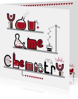 Valentijnskaart you & me chemistry