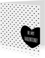 Valentijnskaart ZwartWit - WW