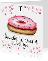 Valentijnskaarten Donut