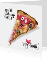 Valentijnskaarten Pizza