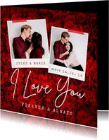 Valentinskarte Rosen & Fotos
