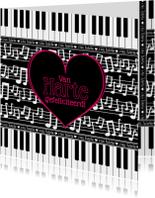Van Harte... muzieknoten piano