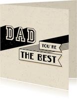 Vatertagskarte 'Dad you're the best'