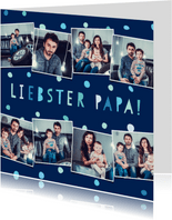 Vatertagskarte Fotocollage mit Konfetti
