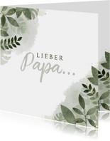 Vatertagskarte Zweige Aquarell