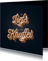 Veel liefs en een knuffel kaartje typografisch