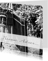 Verhuiskaarten - Verhuisbericht open hek