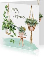 Verhuiskaart hangplanten macramé