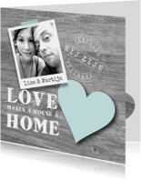 Verhuiskaart Love Home Foto