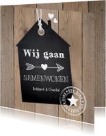Verhuiskaart samenwonen label huis houtlook