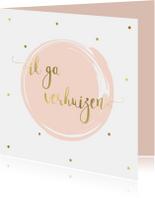 Verhuiskaart Single, aanpasbare kleur