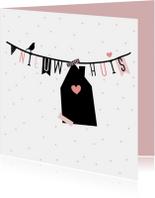 Felicitatiekaarten - Verhuiskaart - Slinger huisje