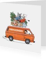 Verhuiskaart T3 bus oranje