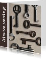 Verhuiskaart vierkant sleutels