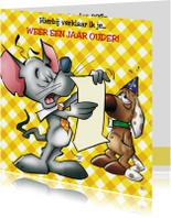 Verjaardag 17 muis en hond