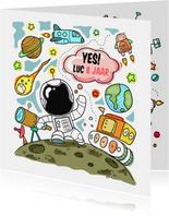 Verjaardag astronaut ruimte