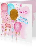 Verjaardag ballonnen glitter