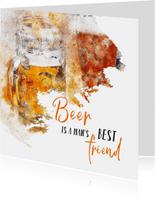 Verjaardag beer is a man's best friend