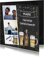 Verjaardag bier op krijtbord