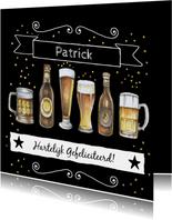 Verjaardag biertjes zwart