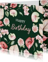 Verjaardag bloemen botanical flowers