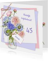 Verjaardag bloemen vaas