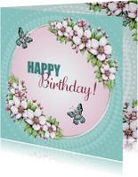 Verjaardag bloesem vlinders - IH