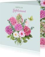 Verjaardag boeket hortensiabloemen