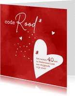 Verjaardag Code rood voor veertiger