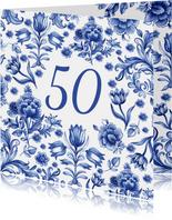 Verjaardag delfts blauw patroon