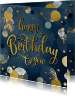 Verjaardag felicitatie wenskaart confetti man