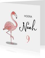 Verjaardag flamingo