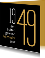 Verjaardag geboorte 1949