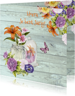 verjaardag gekleurde bloemen