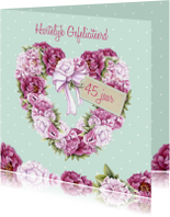 Verjaardag hart pioenrozen