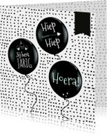 Verjaardag hiep hiep ballon