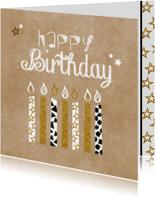 Verjaardag hip en glamour kaarsjes