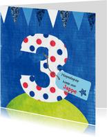 verjaardag jongen 3 jaar tekst label