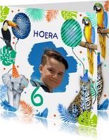 Verjaardag jongetjes wilde dieren
