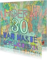 Verjaardag kleurrijk Geluk IW