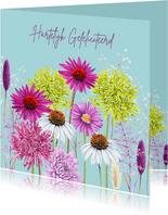 Verjaardag kleurrijke bloemen