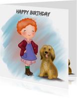 Verjaardag Krullebol met hond