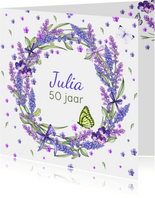 Verjaardag lavendelkrans zomer
