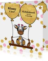 Verjaardag lief giraffe ballon